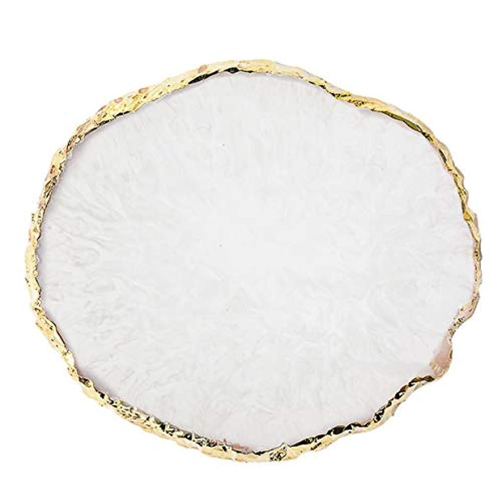 のりテレビ膿瘍Wadachikis 精神的な1 pc樹脂釘アート絵画ボード図面パレットを表示するゲル塗装色皿ゴールデンエッジマニキュア釘ディスプレイツール最新(None Q)