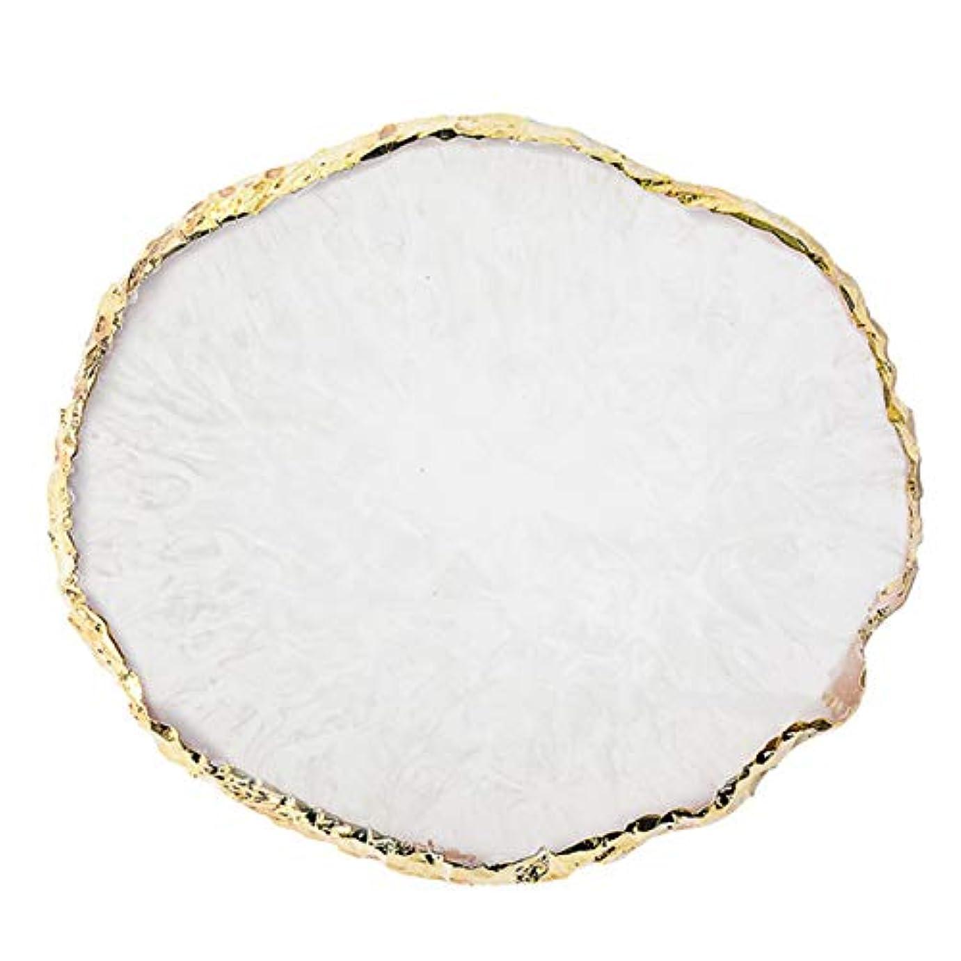 ジョットディボンドンまで施設Wadachikis 精神的な1 pc樹脂釘アート絵画ボード図面パレットを表示するゲル塗装色皿ゴールデンエッジマニキュア釘ディスプレイツール最新(None Q)