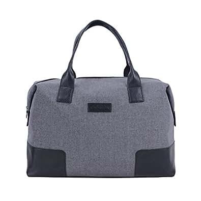 UU Family(UUのファミリ)ファッションミニ旅行バッグ レディ―短期出張手提げバッグ大容量男性折り畳める旅行バッグ (S, グレー)