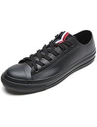 [YUB] レジャー型 レディース レインシューズ カジュアル チューブファッション 防水 滑り止め メンズ レインシューズ 黒と白の2色 -KWA04