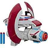 Marvel Avengers - NERF Captain America Assembler Gear Blaster - Inc 3 Official Darts - Kids Toys & Outdoor Play - Ages 5+
