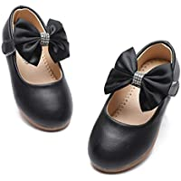 TIMATEGO Toddler Little Girls Dress Shoes Ballet Sparkle Wedding Party Mary Jane Princess Flats Shoes for Girls