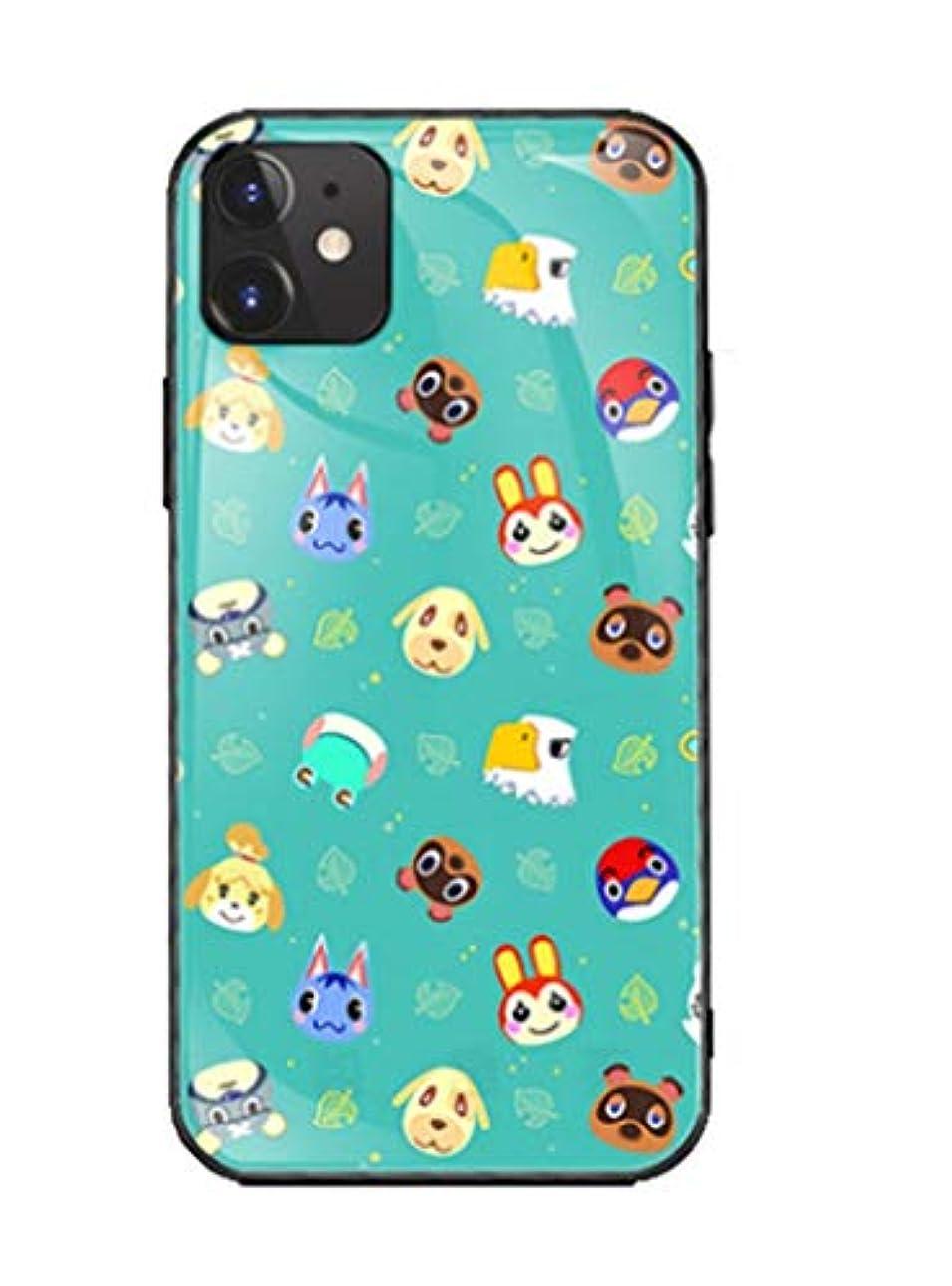 プロトタイプ味配管【Grace Bubble】あつまれ どうぶつの森 Animal Crossing アイフォン スマホケース iPhone7 8 X XR ガラス 携帯カバー 鏡面ガラス ハードケース (仕様B, iPhone XR)