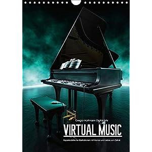 VIRTUAL MUSIC - Musikinstrumente in Hyperrealistischen Illustrationen (Wandkalender 2019 DIN A4 hoch): Hyperrealistische Illustrationen mit Humor und Liebe zum Detail (Monatskalender, 14 Seiten )
