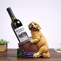クリエイティブ 犬の形 ワインボトルホルダー ファッション ワインラック 樹脂 ワインボトルラック