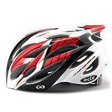 【JCFマーク付】軽量ジャパンフィット自転車ヘルメット(4600)コンビレッド L~XLサイズ
