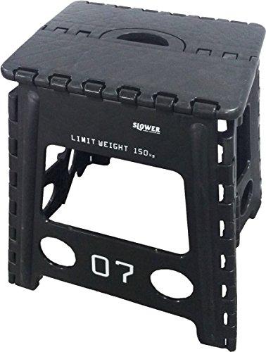 スロウワー 折りたたみチェア フォールディング スツール レズモ ブラック SLW 003
