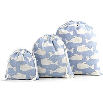 おしゃれ かわいい 巾着 袋 大 中 小 3点 セット コップ袋 体操着袋 入園準備 水色 旅行 学校 小物入れ