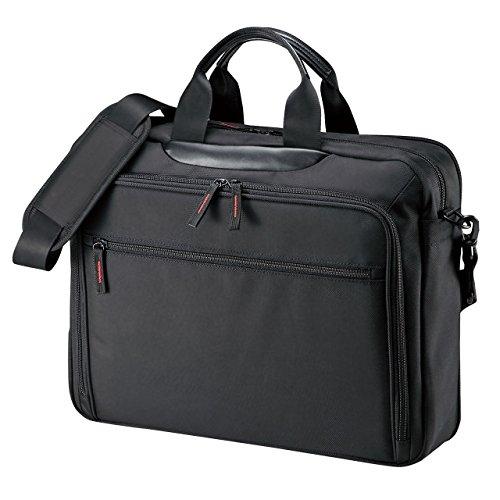 マチ拡張PCバッグ BAG-W2BKN [15.6型ワイド対応 ブラック]