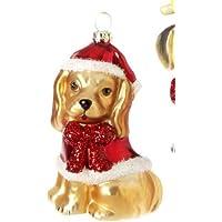RAZ Imports手吹きガラス犬オーナメント、スタイルの選択