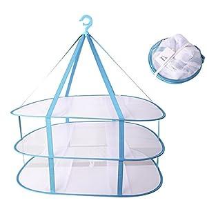 (アーネス)Arnes 主婦が選んだ 物干し ネット 平干し ネット 折りたたみ コンパクト 収納 【保証付】 (3段)