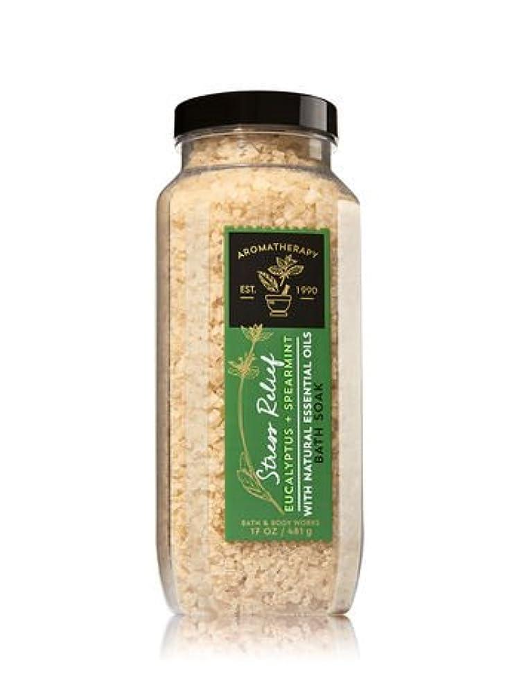 小麦驚きモンクバス&ボディワークス アロマセラピー ストレスリリーフ ユーカリスペアミント バスソーク(入浴剤) STRESS RELIEF Eucalyptus Spearmint Bath Soak [海外直送品]