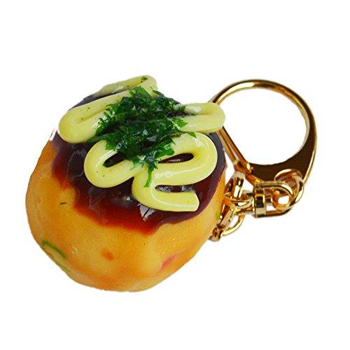食品サンプル キーホルダー たこ焼きマヨネーズ(小) おもしろ雑貨 お土産にも喜ばれます♪