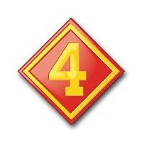 """US Marine 4th Divisionデカールステッカー5.5"""""""