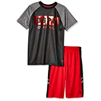 U.S. Polo Assn. Boys' 2 Piece Sleeve Athletic T-Shirt and Short Set