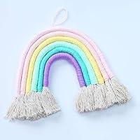 YWH DIY手作りグッズ 虹手織り飾りタッセル装飾壁掛け写真の小道具 (色 : ピンク)