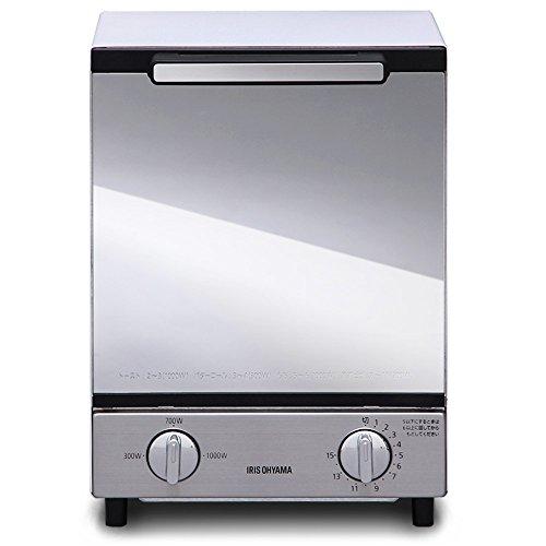 アイリスオーヤマ オーブントースター トースト2枚 ミラー調 ...