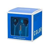 MIXSTYLE inner HEADPHONES スカル ブラック*ブルー MIX-260372