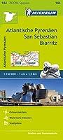 Michelin Zoomkarte Atlantische Pyrenaeen, San Sebastian, Biarritz 1 : 150 000: Strassen- und Tourismuskarte