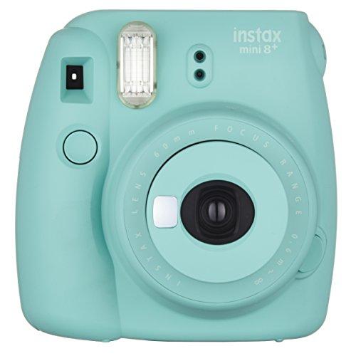 FUJIFILM インスタントカメラ チェキ instax mini8プラス 接写レンズ・純正ハンドストラップ付き ミント INS MINI 8P MINT