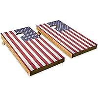 アメリカ国旗 – 愛国 – Cornholeクルー – ACA Regulation Size Cornholeボードセット