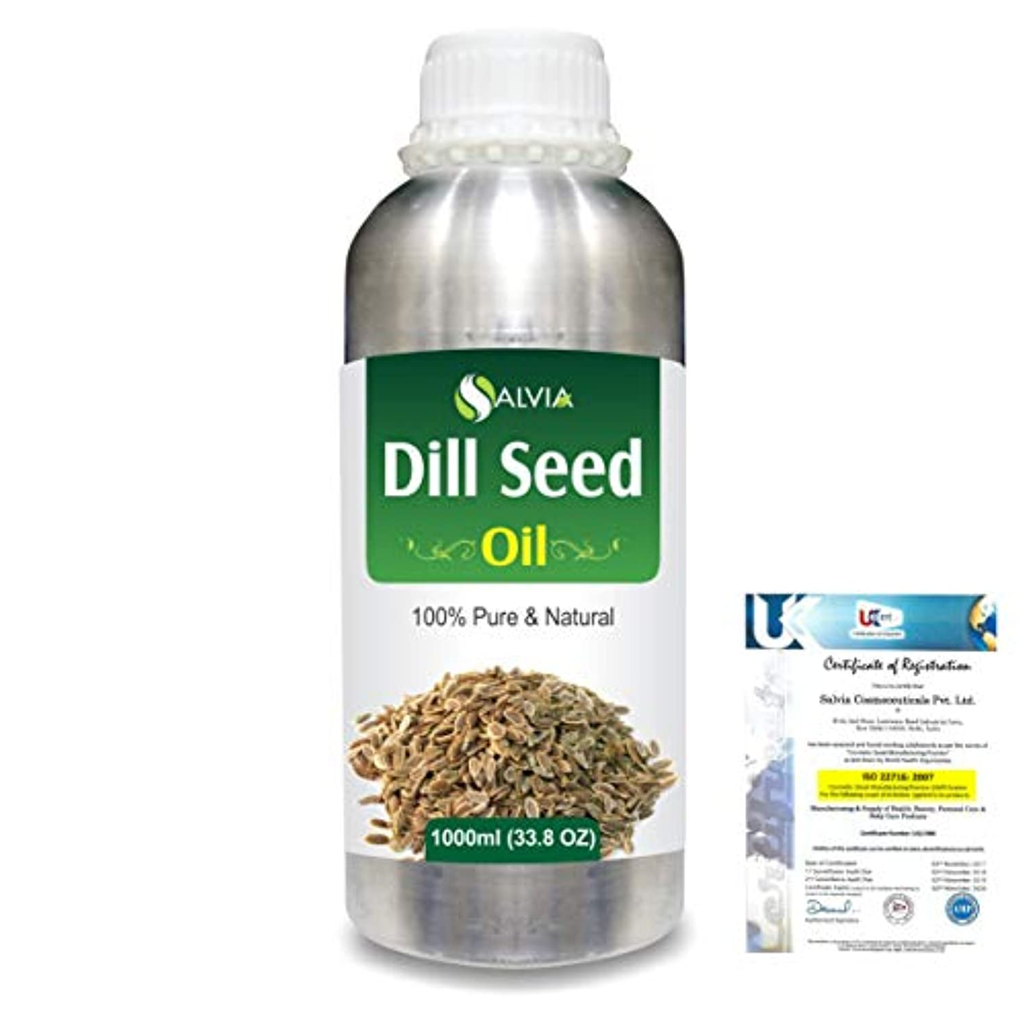 事実役立つ永遠にDill Seed (Anethum graveolens) 100% Natural Pure Essential Oil 1000ml/33.8fl.oz.