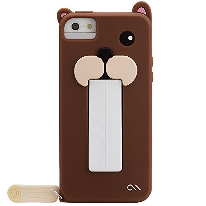 霊ハイキング夕方【かわいくて実用的! 】 Case-Mate 日本正規品 iPhoneSE / 5s / 5 Snap Creatures: Case, Beaver スナップ クリーチャーズ: ケース, ビーバー CM027268 【スナップ?スタンド機能つき】