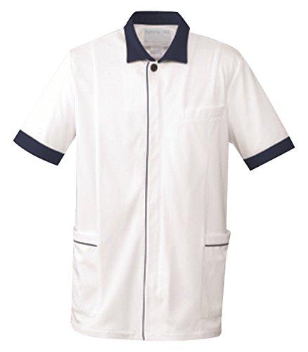 [해외]간호사웨어 온 워드 남성 자켓 BR-4005 화이트 네이비/Nurse Wear Onward Mens Jacket BR-4005 White Navy