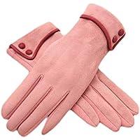 厚みサイクリング運転アウトドアIphone手袋暖かいベルベットファッションタッチスクリーン用手袋women-light pink02