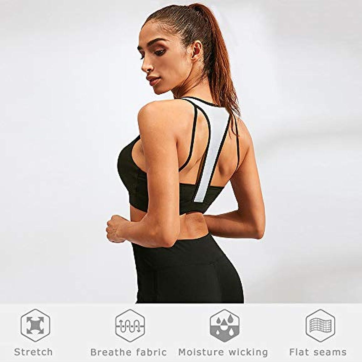 図ホイップスポーツBenkeg フィットネス女性ヨガブラジャータンクトップワークアウトベストバックレスランニングジムプッシュアップスポーツブラジャー