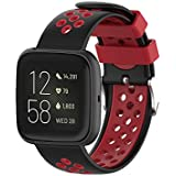 TERSELY Sport Band Strap for Fitbit Versa 2/ Versa/Versa Lite, Breathable Soft TPU Silicone Ventilate Bands Fitness Sports Bracelet Strap for Fitbit Versa 2/1/ Lite Tracker