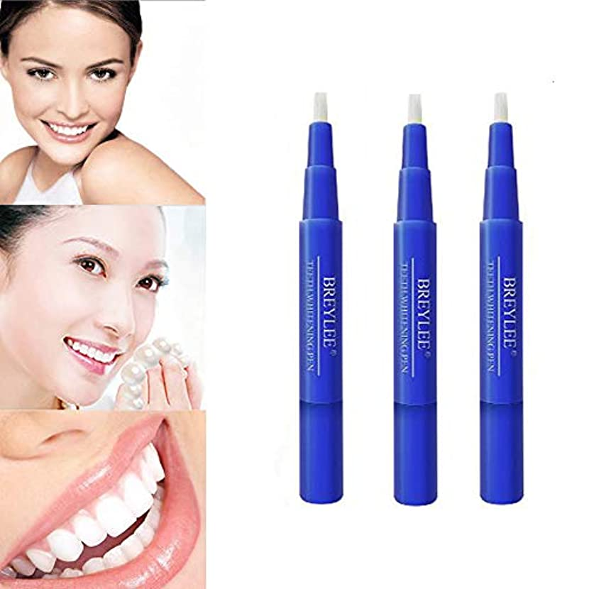 等々委員会パウダー美白歯ゲル 歯 ホワイトニングペン ホワイトニングペン 歯ブラシ 輝く笑顔 口臭防止 歯周病防止 (3 本)
