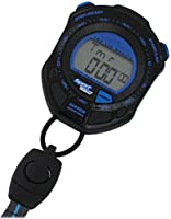 [クレファー]CREPHA ストップウォッチ ラップ メモリー スプリットタイム 計測機能 付き ブラック ブルー TS-S002-BL