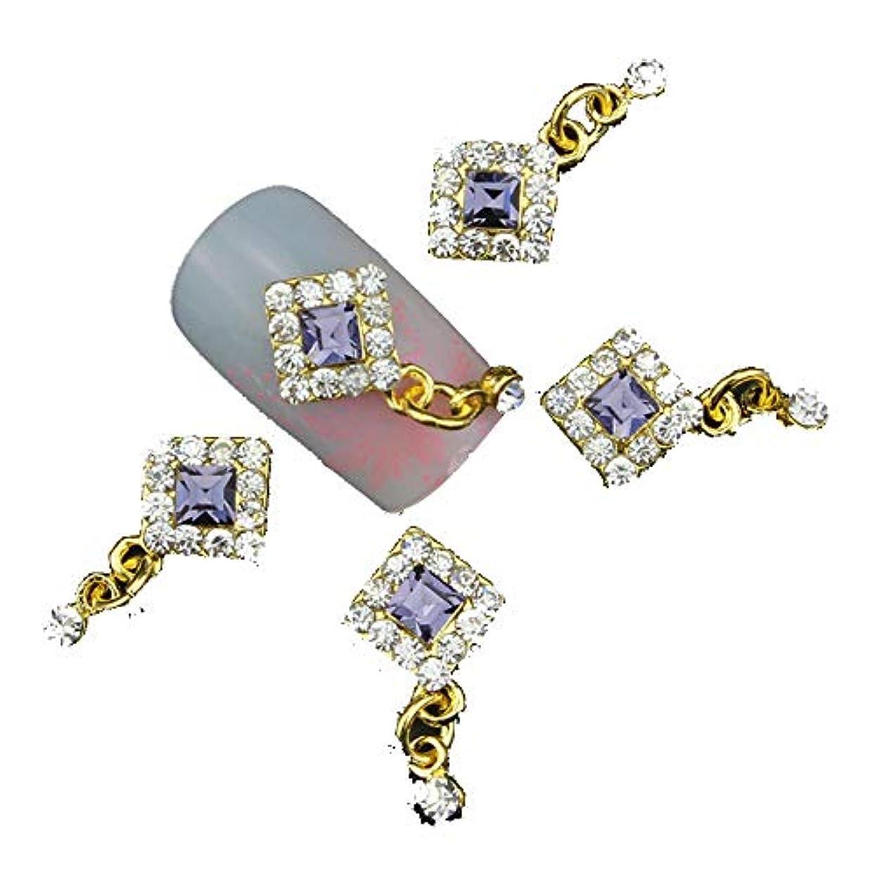 島クリームクローゼットラインストーン付きグリッターカラフルな3Dネイルアートの装飾、ネイルジェル/ポーランドツール用合金ネイルチャームジュエリー10PC