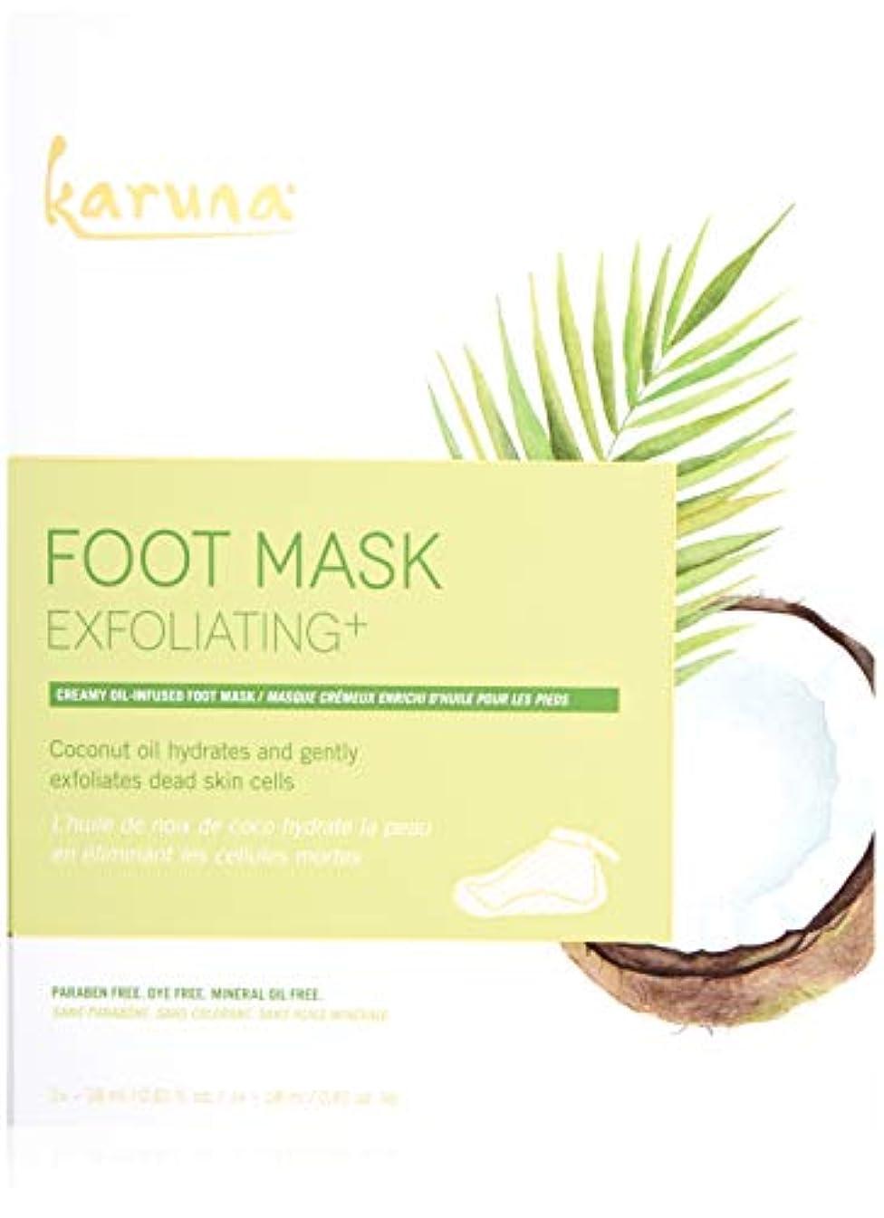 木曜日愛情深いKaruna Exfoliating+ Foot Mask 4sheets並行輸入品