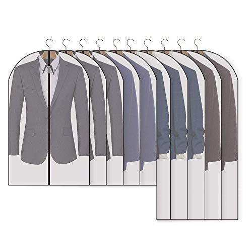 Qisiewell 洋服カバー 10枚組 スーツサイズ 衣類カバー スーツカバー コートカバー 埃よけ 防湿 型崩れ防止 通気 服のカバー 洋服 保管 クローゼット用 5*M(60*100cm)+5*L(60*120 cm)