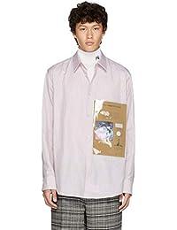 (ラフ シモンズ) Raf Simons メンズ トップス シャツ White & Red Plastic Pocket Shirt [並行輸入品]