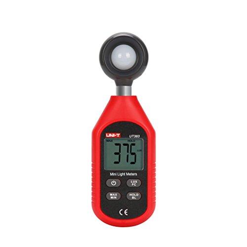 UNI-T UT383 デジタル式照度計 デジタルタイマー 小型ライトメーター 1~199/999Lux 高感光 LCDディスプレイ 滑り止め コンパクト 持ち運び便利