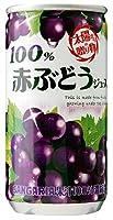 サンガリア 100%赤ぶどうジュース 190g×30本