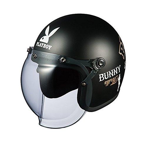 OGK KABUTO (オージーケーカブト) バイクヘルメット ジェット ROCK PLAYBOY (プレイボーイ) フラットブラック-3 (サイズ:FREE) B01E1597JY 1枚目