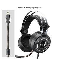 ゲーム用ヘッドセットfor ps4Xbox OneコントローラノートパソコンMacゲームwith Mic Over Earヘッドホン高パフォーマンスステレオサウンドwith Bass, 2, qwe123456