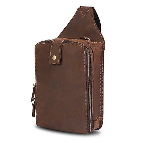 レザー 本革かばん メンズボディバッグ ワンショルダーバッグ 高級馬革 斜めかけ鞄 レザー 本革 リュック ウェストバッグ