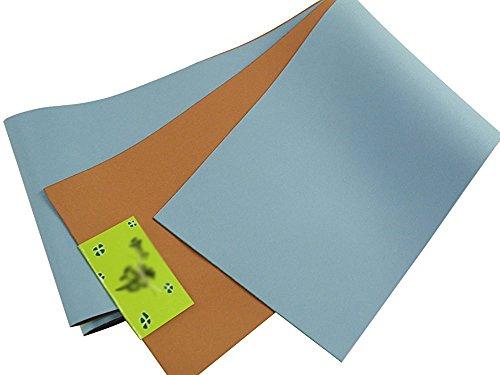 リバーシブル 浴衣帯 単衣 半幅帯 (ブルー/ブラウン(D))