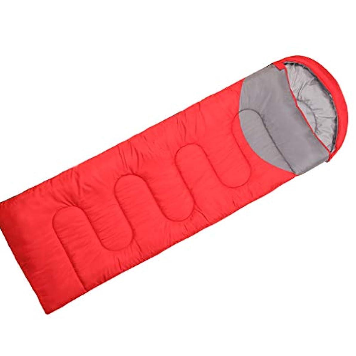 才能シードオレンジLCSHAN 寝袋ポリエステル大人厚手暖かいキャンプ旅行耐湿性ダウンコットン (容量 : A, 色 : Red)