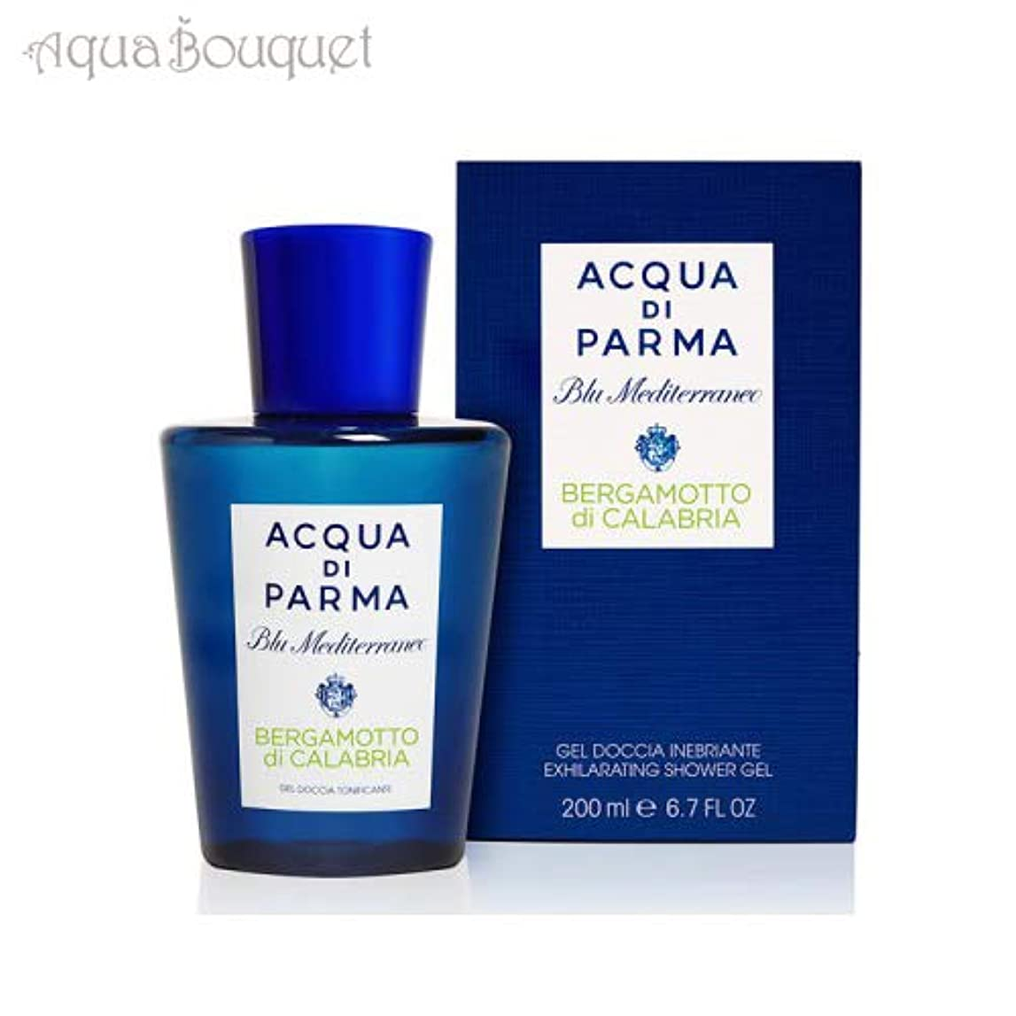 本質的に精緻化ジャケットアクア ディ パルマ ブルー メディテラネオ ベルガモット ディ カラブリア シャワージェル 200ml ACQUA DI PARMA BERGAMOTTO DI CALABRIA SHOWER GEL [並行輸入品]