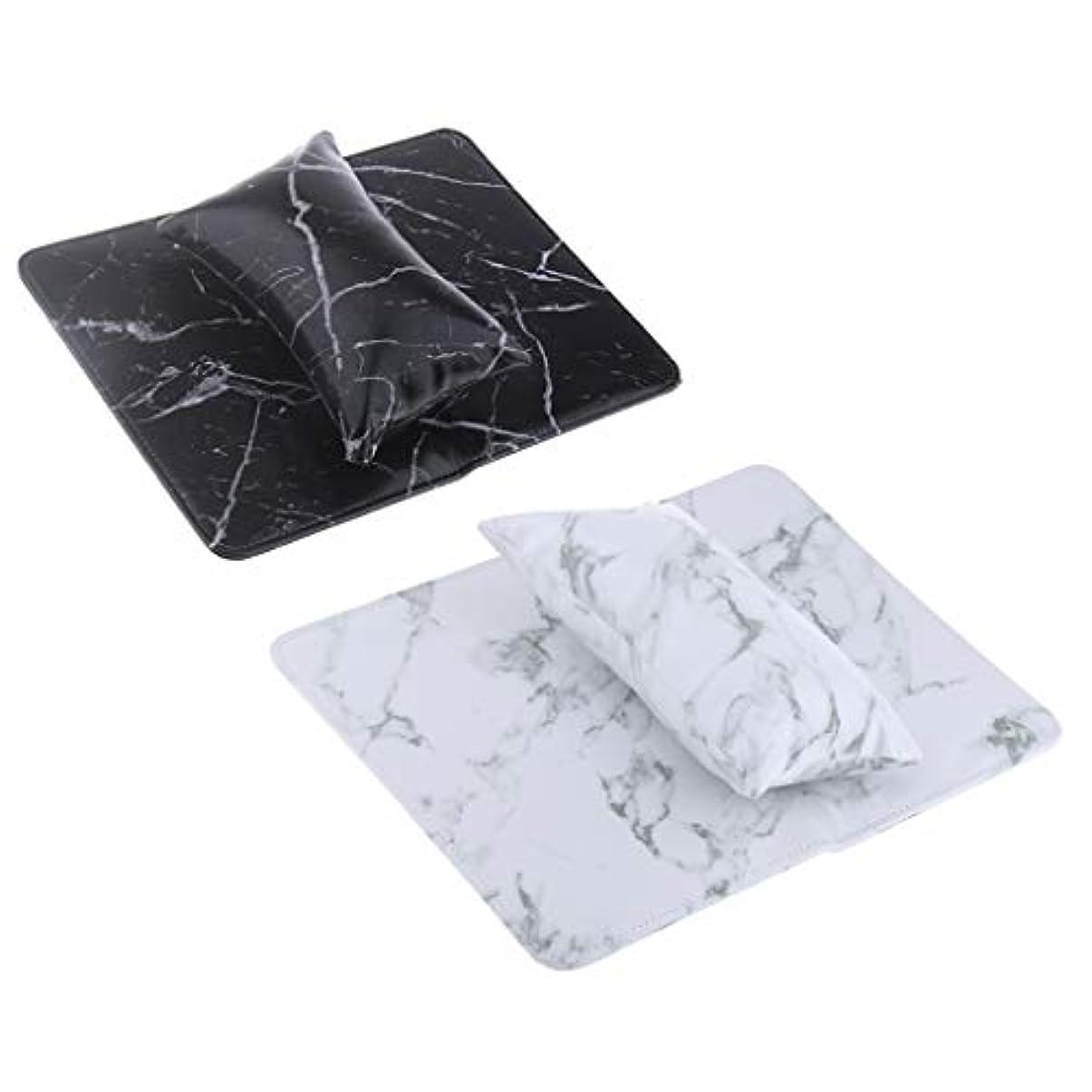 インターネット生むみなすCUTICATE 2セット ハンド枕 パッド付き ピロー 折りたたみ式パッド ネイルアート アームレストホルダー