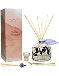 lovspa エッセンシャルオイル リードディフューザー | アメリカ製 | 動物製品不使用 | 素敵な芳香剤 ギフトやインテリアとして 4.5 oz 43237-2
