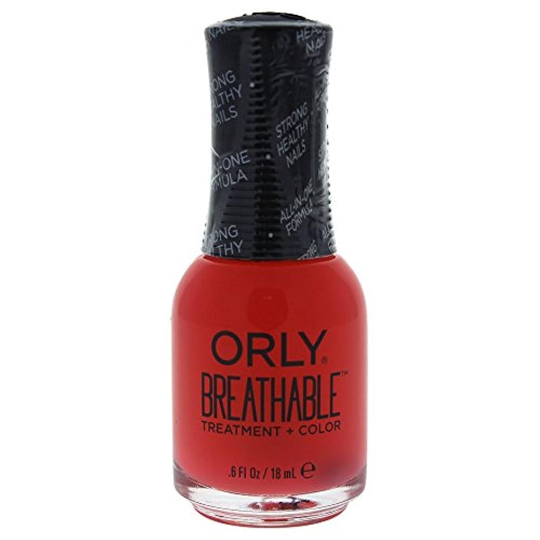 異常ミリメートル政策Orly Breathable Treatment + Color Nail Lacquer - Sweet Serenity - 0.6oz / 18ml