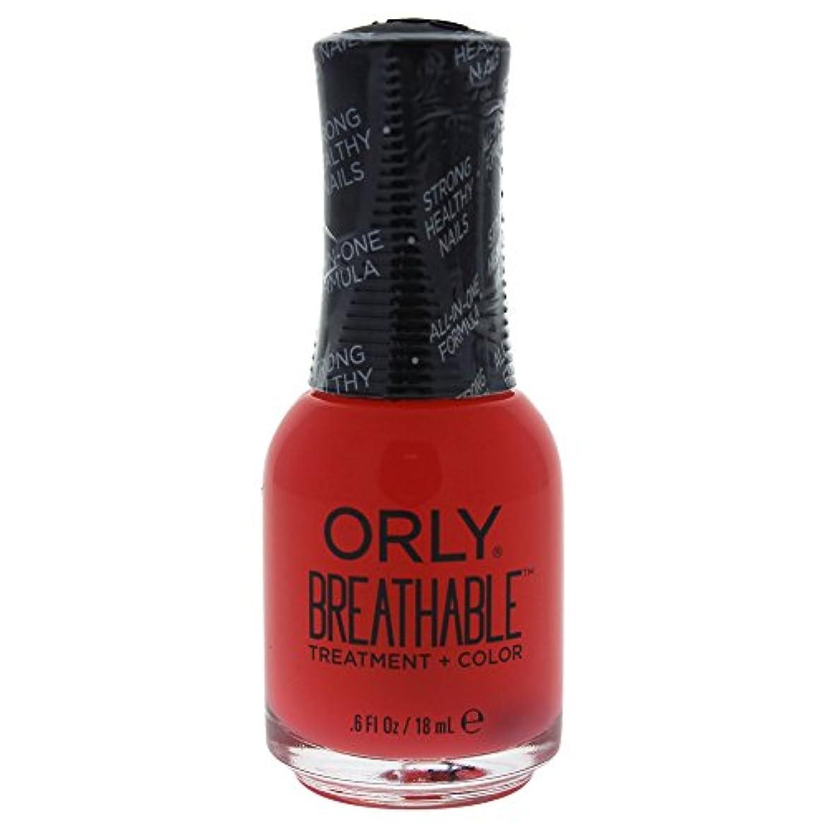 グローバル誇張プロテスタントOrly Breathable Treatment + Color Nail Lacquer - Sweet Serenity - 0.6oz / 18ml
