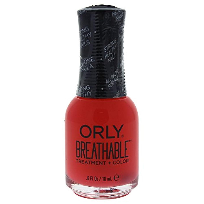 世代番目消毒剤Orly Breathable Treatment + Color Nail Lacquer - Sweet Serenity - 0.6oz / 18ml